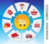 internet and online shopping... | Shutterstock . vector #128841211