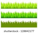 reflected vector grass pattern | Shutterstock .eps vector #128842177
