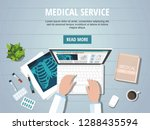 doctor's  table workplace.... | Shutterstock .eps vector #1288435594
