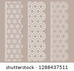 vector set of line borders with ... | Shutterstock .eps vector #1288437511