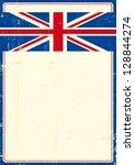 British Grunge Poster. Write...