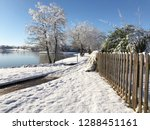 side view of a wooden fence... | Shutterstock . vector #1288451161