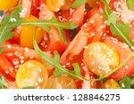 Vegetable salad closeup - stock photo