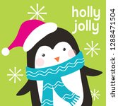 cute little pebguin christmas... | Shutterstock .eps vector #1288471504