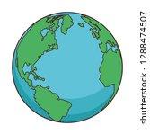 world map cartoon | Shutterstock .eps vector #1288474507