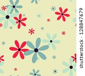 seamless pattern with beautiful ... | Shutterstock .eps vector #128847679