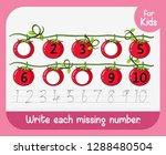 write each missing number... | Shutterstock .eps vector #1288480504