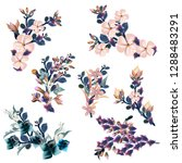 collection of vector florals ... | Shutterstock .eps vector #1288483291