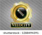 gold badge or emblem with... | Shutterstock .eps vector #1288494391