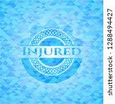injured realistic light blue... | Shutterstock .eps vector #1288494427