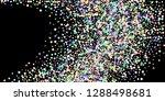 rainbow stars  iridescent... | Shutterstock .eps vector #1288498681