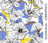 tropical  animal motif. black...   Shutterstock .eps vector #1288499611