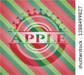 apple christmas style emblem. | Shutterstock .eps vector #1288499827