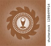 map pointer icon inside wood... | Shutterstock .eps vector #1288499914