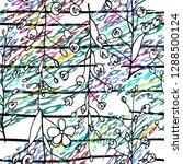 modern stripes jungle motif....   Shutterstock .eps vector #1288500124