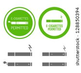 electronic cigarettes permitted ... | Shutterstock .eps vector #128850394