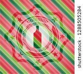 bottle icon inside christmas... | Shutterstock .eps vector #1288505284