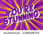 you're stunning   vector... | Shutterstock .eps vector #1288508701