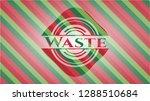 waste christmas badge... | Shutterstock .eps vector #1288510684