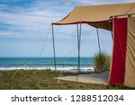 summer freedom camping  pouawa... | Shutterstock . vector #1288512034