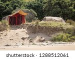 summer freedom camping  pouawa... | Shutterstock . vector #1288512061