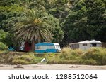 summer freedom camping  pouawa... | Shutterstock . vector #1288512064