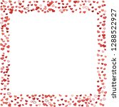scattered doodle red hearts... | Shutterstock .eps vector #1288522927