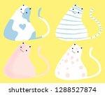 set of flat vector hand draw... | Shutterstock .eps vector #1288527874