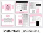 set of square editable social... | Shutterstock .eps vector #1288533811