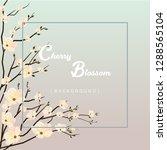 beautiful cherry blossom... | Shutterstock .eps vector #1288565104