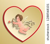 cupids  the symbol of love ... | Shutterstock .eps vector #1288568101