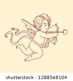 cupids  the symbol of love ... | Shutterstock .eps vector #1288568104