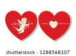 cupids  the symbol of love ... | Shutterstock .eps vector #1288568107