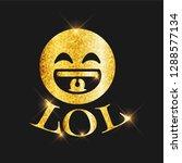 golden glitter lol text and...   Shutterstock .eps vector #1288577134