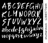 chalk textured font. grunge... | Shutterstock .eps vector #1288577644