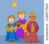 happy epiphany three kings | Shutterstock .eps vector #1288577824