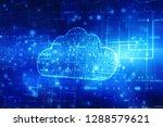 2d rendering cloud computing ... | Shutterstock . vector #1288579621