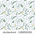 perfect endless floral pattern...   Shutterstock .eps vector #1288583281