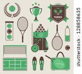 vector illustration of various... | Shutterstock .eps vector #128858635