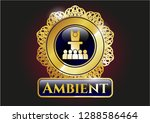 gold emblem with motivational... | Shutterstock .eps vector #1288586464