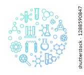 biochemistry and molecular... | Shutterstock .eps vector #1288590847
