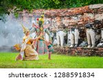art culture thailand dancing in ... | Shutterstock . vector #1288591834