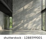 loft space empty room with... | Shutterstock . vector #1288599001