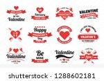wedding retro vintage vector... | Shutterstock .eps vector #1288602181