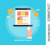make money online   pay per... | Shutterstock .eps vector #1288607617