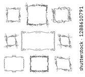 set of frames. hand drawn... | Shutterstock .eps vector #1288610791