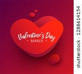 valentine's day banner. dynamic ... | Shutterstock .eps vector #1288614154