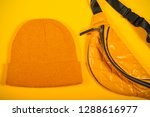 bag and other yellow objects...   Shutterstock . vector #1288616977