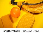 bag and other yellow objects...   Shutterstock . vector #1288618261