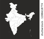 india map and world map   vector | Shutterstock .eps vector #1288618774